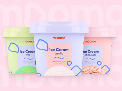 moomo ice cream logo and packaging design inspiration design concept pink food packaging design food packaging food icecream ice cream packaging package design logo brand identity packaging design branding box box design brand design milk