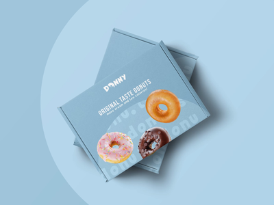 Donny | Logo and take-away box design brand design donuts sweets takeaway boxdesign foodbox food bakery packaging packagedesign package brand identity box