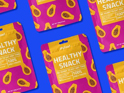 Dryfood   Package design packaging design vegan food vegan fruits typography dry fruits healthy food packagedesign boxdesign foodpackage snack pouch