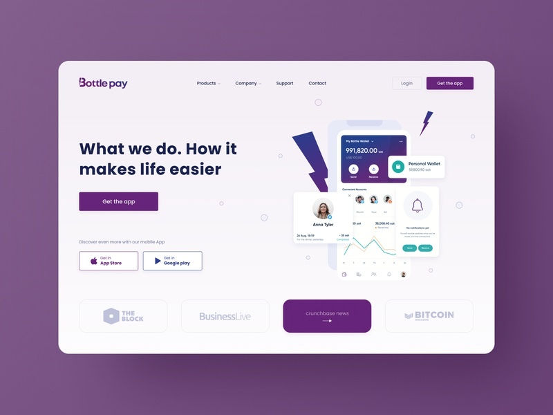 Landing Page   Bottle Pay 💳