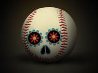 Baseball + Día de muertos