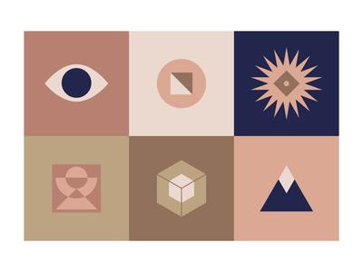 Icon Exploration 1 expressive experiment minimalism color icon retro vector branding logo bold illustration