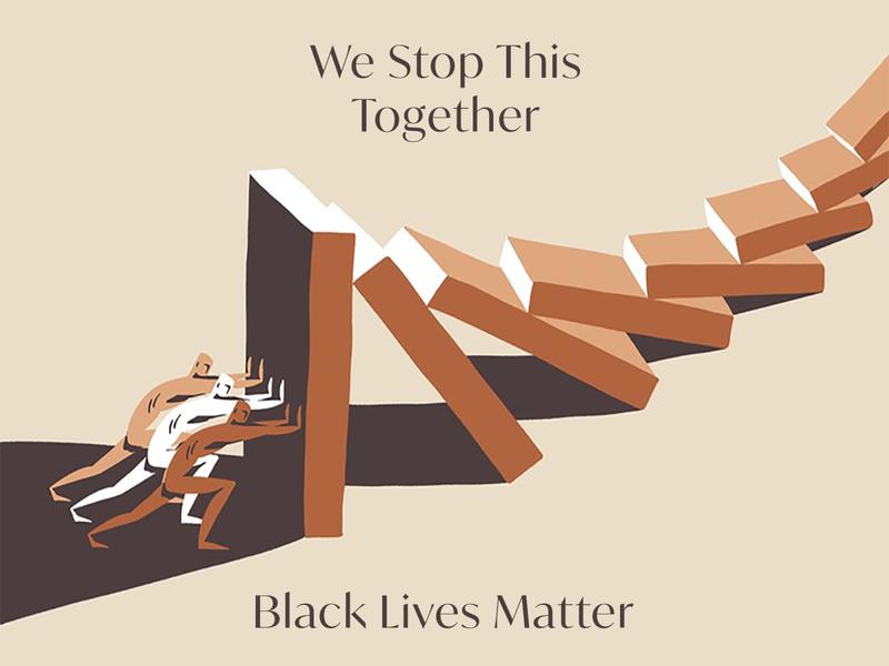 Black Lives Matter blacklivesmatter dominoes vector retro vintage typography hand drawn illustration