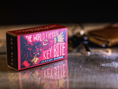 Key Bite Packaging logo bold vintage product design hand drawn packaging magic trick panther neo trad retro hand lettering typography illustration illustrator