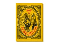 How To Read Minds Poster product design print poster magic snake carnival circus mind reading psychic branding tattoo vector hand lettering retro bold vintage typography hand drawn illustration
