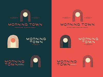 Morning Town Coffee Logo breakouts australia coffeeshop coffee vector type branding hand drawn bold retro logo vintage typography illustration
