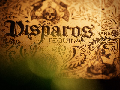 Tequila Box - Close up tequila playing cards cards illustration mexico skulls guns packaging deck tuck box disparos magic
