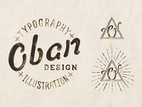 Oban  Logo Concept illustration typography hand drawn hand lettering paint type logo concept