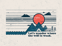 Let's wander - T shirt graphic