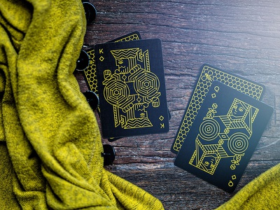 Killer Bees queen king chemical illustration cards killer bees playing cards