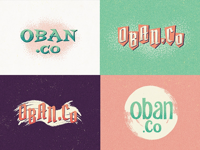 New logo concepts lettering typography branding logo pastel 50s cartoon vintage retro illustration type