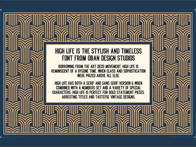 High Life Typeface free font font lettering sans serif serif classical art deco vintage retro illustration typography