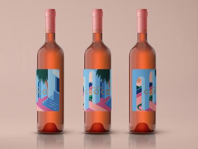 L'hotel Croco Wine Label