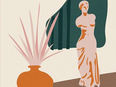Desktop Venus vector venus aphrodite greek retro bold vintage hand drawn illustration