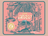 L'hotel Croco Wine Label 3