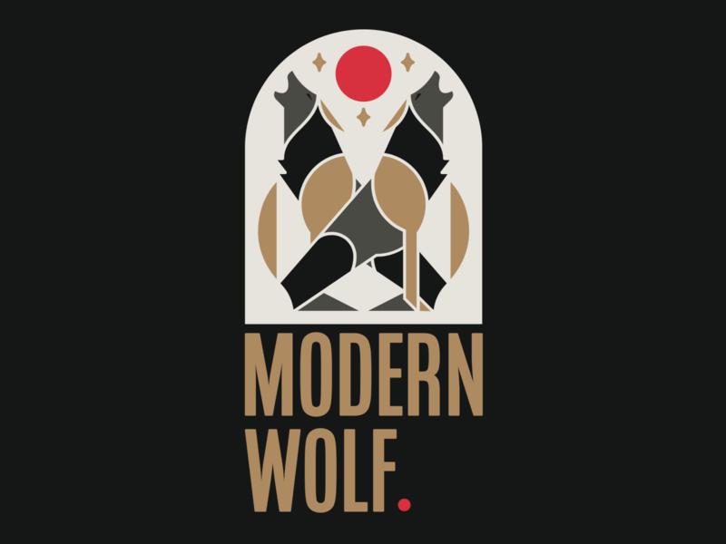 Modern Wolf Logo brand design modern wolf logodesign icon vector branding design bold logo typography illustration