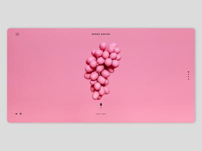 Pink Grapes food fruit colorful color pink home interface clean webdesign landing page minimal concept website dribbble ux ui design