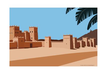 sahara illustration by MerSoDesign