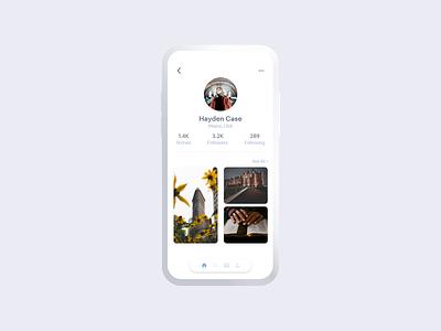 User Profile user profile minimal ux ui design app