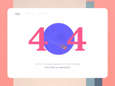 404 Page website web flat minimal daily 100 challenge art ux ui design