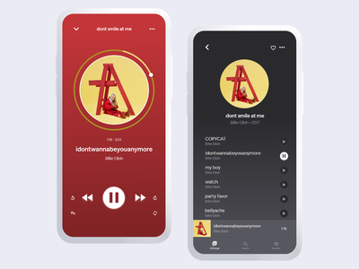 Music Player icon user typography illustration minimal daily 100 challenge app ux ui design