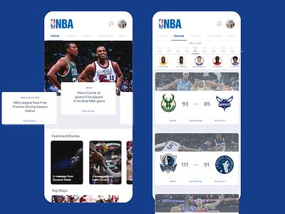 NBA App - Redesign basketball sports nba branding art app ux design ui