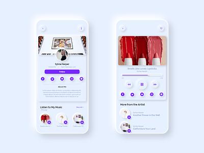 Social Networking for Artists profile user illustration flat minimal art app ux ui design