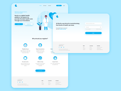 Nurity - Medical Landing Page medical medicine doctor logo user minimal design ux ui