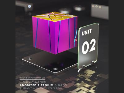 Anodized Titanium Shards
