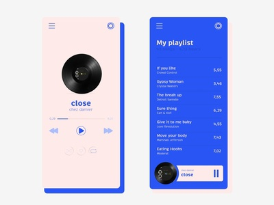 #DailyUI Music Player