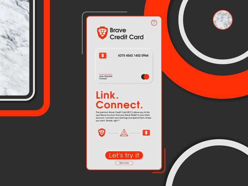 #DailyUI [18] Brave Credit Card Onboard
