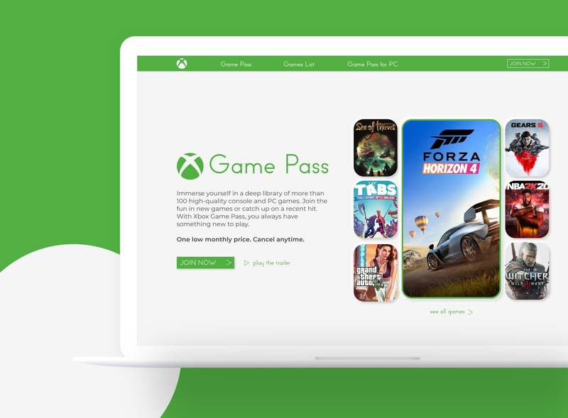 #DailyUI [21] Xbox Game Pass subscription