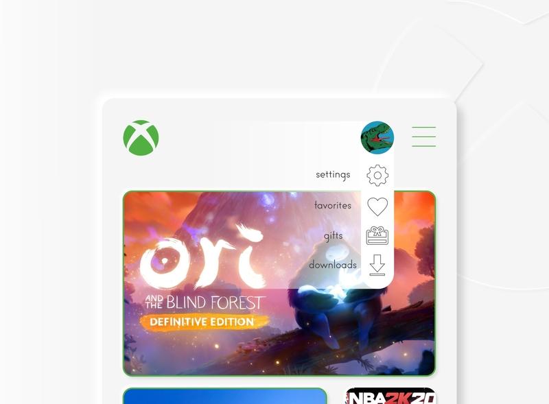 #DailyUI [22] Dropdown Xbox