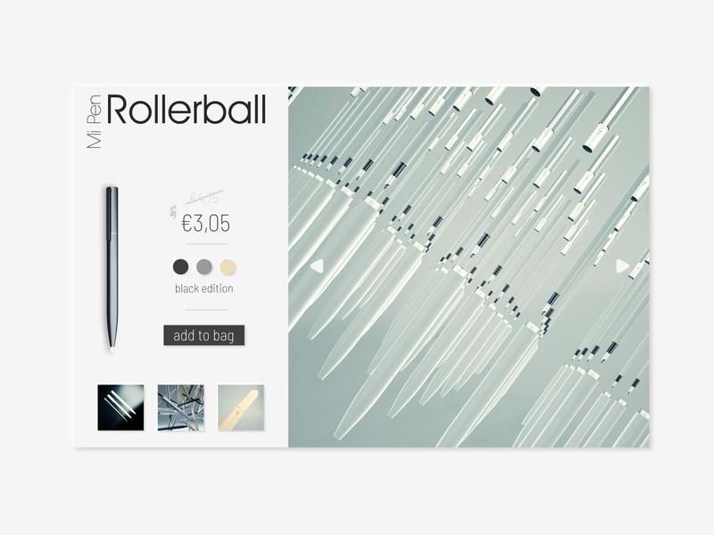 #DailyUI [24] Xiaomi Pen Buy