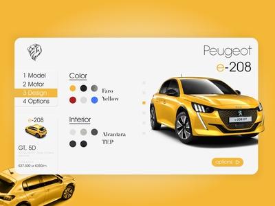 #DailyUI [26] Peugeot Customize