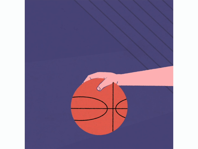 Basketball 2d character motiongraphics animation hand motion 2danimation flat 2d gif rigging nba ball basket
