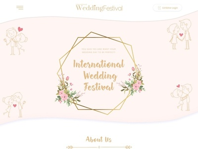 Wedding Website Ui Design