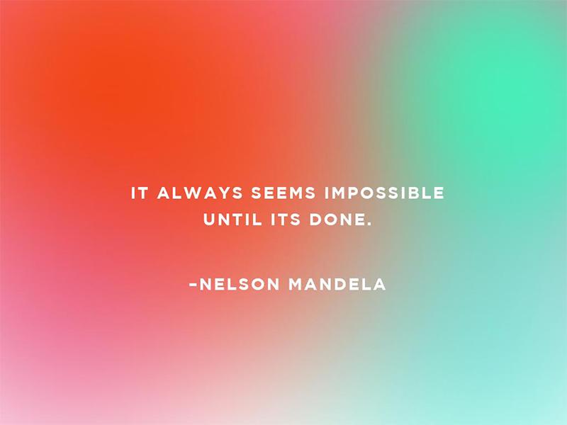Nelson Mandela Quote  design quotes colors photoshop blogger
