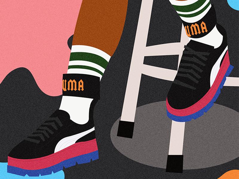 Fenty Puma vector fashion sneakers illustrator illustration