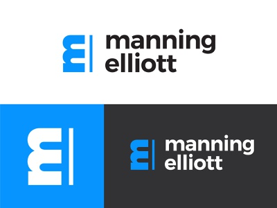 Manning Elliott Tax Accountant Branding identity logo design logo branding accountant tax e m