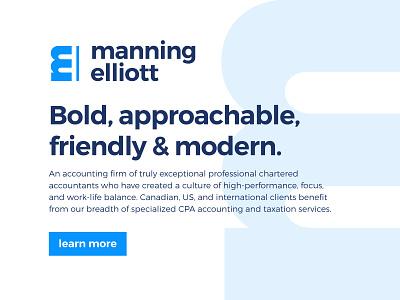 Manning Elliott Typography logo branding accountant tax