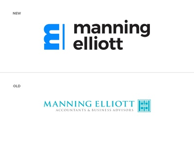 Manning Elliott Before After me e m branding logo accountant tax