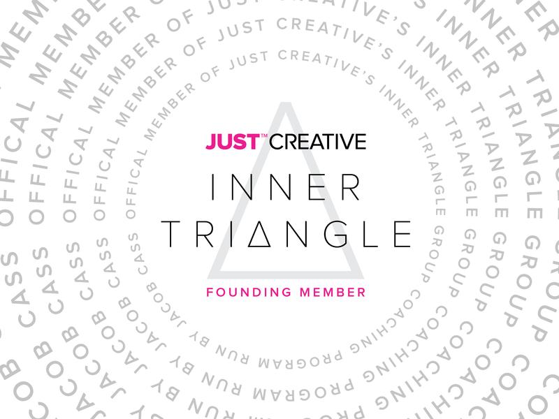 Just Creative Inner Triangle Badge