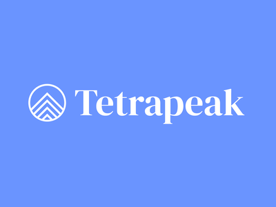 Tetrapeak Logo peak circle branding blue consulting logo design marketing up arrow mountain logo