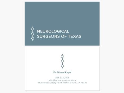 NST Business Cards logo business card card texas spine medical health dna proxima nova