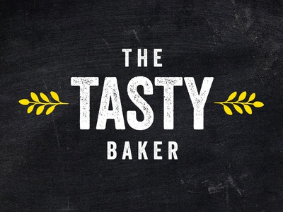 The Tasty Baker Logo logo bakery branding identity leaf wheat natural chalk