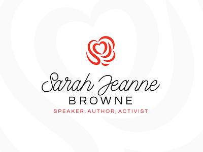 Sarah Jeanne Browne Personal Brand Logo brand logo design logo identity branding author speaker heart rose