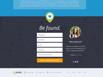 Prolo Sign Up