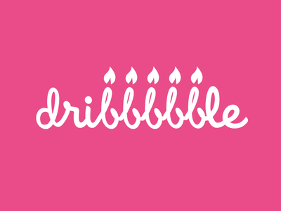 Dribbble Turns 5 dribbble birthday candle