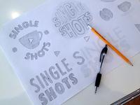 Single Shots Logo Sketches